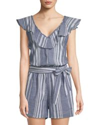 Saks Fifth Avenue - Cotton Ruffle Cap Sleeves Romper - Lyst