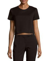 Zac Posen - Solid Cropped Top - Lyst