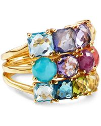 Ippolita - Rock Candy Multi-stone 18k Green Gold Cluster Ring - Lyst