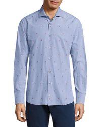 Vilebrequin - Jacquard Cotton Shirt - Lyst