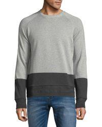BOSS | Colorblock Cotton Sweater | Lyst