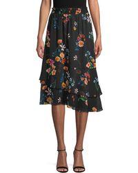 RACHEL Rachel Roy - Botanical-print Asymmetrical Skirt - Lyst