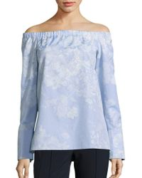 Lafayette 148 New York - Amy Cotton Off-the-shoulder Blouse - Lyst