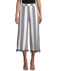 English Factory - Striped High-rise Palazzo Pants - Lyst