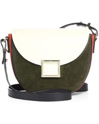 Jason Wu - Mini Jaime Colorblock Leather Saddle Bag - Lyst