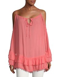 Lovers + Friends - Tropical Oasis Ruffle Top - Lyst