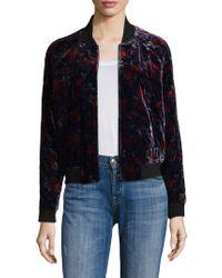 Joie - Mace Floral Velvet Bomber Jacket - Lyst