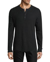 Vince - Long Sleeve Henley Top - Lyst