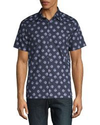Perry Ellis - Rose Button-down Shirt - Lyst