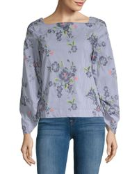 Laundry by Shelli Segal - Embroidered Top - Lyst