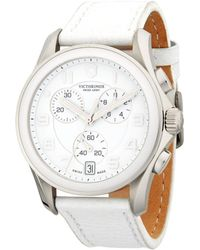 Victorinox - Stainless Steel Leather-strap Watch - Lyst