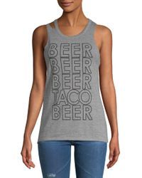Chaser - Deconstructed Muscle Tank Top - Lyst