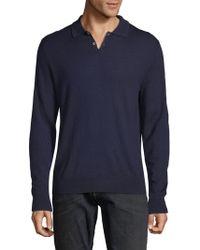 Saks Fifth Avenue - Long-sleeve Wool Polo - Lyst