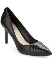 Karl Lagerfeld - Roulle Leather Point-toe Pumps - Lyst