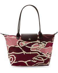 Longchamp - Printed Shoulder Bag - Lyst