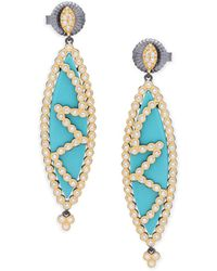 Freida Rothman - Crystal Mirror Mirror Drop Earrings - Lyst