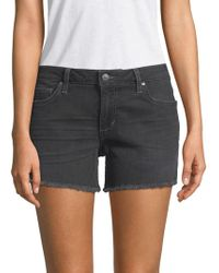 Joe's Jeans - Frayed-hem Denim Shorts - Lyst