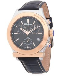 Ferragamo - Logo Stainless Steel And Leather-strap Watch - Lyst