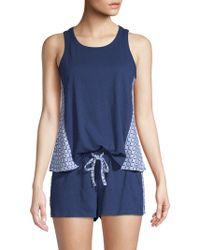 Jane And Bleecker - Two-piece Geometric Pyjama Set - Lyst