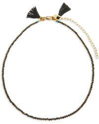 Shashi - Lola 18k Gold-plated Beaded Choker Necklace - Lyst