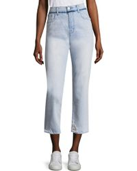 J Brand - Ivy Slim-fit Distressed Cropped Jeans - Lyst