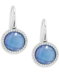 Roberto Coin - Pearl, Diamond, Topaz And 18k Rose Gold Fantasia Drop Earrings - Lyst