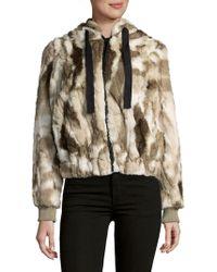 C&C California - Faux Fur Hooded Coat - Lyst