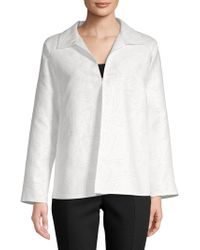 Lafayette 148 New York - Zineb Cotton & Silk Topper - Lyst