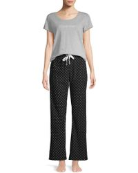 Calvin Klein - Comfort Fleece 2-piece Pyjama Set - Lyst