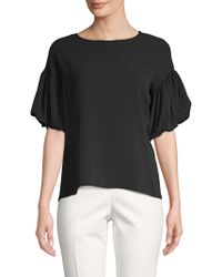 Vince Camuto - Bubble-sleeve Roundneck Top - Lyst
