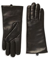 Saks Fifth Avenue - Polished Leather Gloves - Lyst