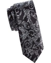 Versace - Floral Silk Tie - Lyst