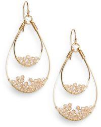 Nunu - Champagne Wire-beaded Teardrop Earrings - Lyst