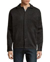 Publish - Spread Collar Heathered Jacket - Lyst