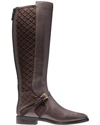 Cole Haan - Riding Style Two Tone Boots - Lyst