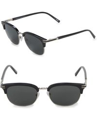 2b853f23158 Montblanc - Silvertone 52mm Professor Sunglasses - Lyst
