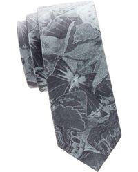 Valentino - Graphic Skinny Silk Tie - Lyst