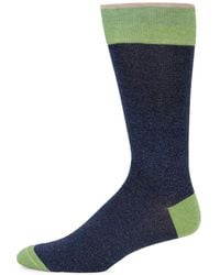 Saks Fifth Avenue - Collection Contrasting Heel Mid-calf Socks - Lyst