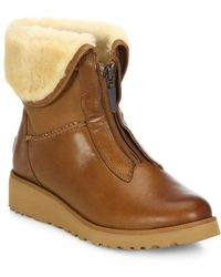 UGG - Caleigh Zip-front Wedge Boots - Lyst