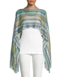 Missoni - Fringe-trimmed Cropped Poncho - Lyst