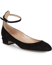 Valentino - Tango Suede Court Shoes - Lyst