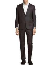 Hickey Freeman - Wool Buttoned Suit - Lyst