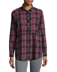 Beach Lunch Lounge - Plaid Cotton Top - Lyst