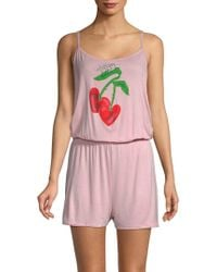 Juicy Couture - Front-graphic Romper - Lyst