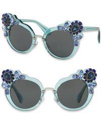Miu Miu - 52mm Crystal-embellished Cat-eye Sunglasses - Lyst