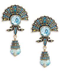 Heidi Daus - Crystal Fan Drop Earrings - Lyst