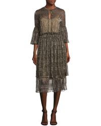 Romance Was Born - Ava Maria Bell Sleeve Ruched Dress - Lyst