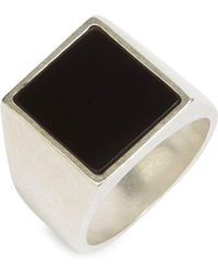 Maison Margiela - Square Silver Ring - Lyst