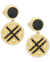 Freida Rothman - Pave Stripe Dangle & Drop Earrings - Lyst
