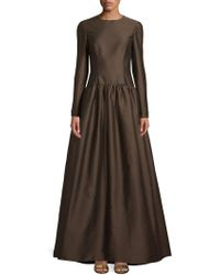 Valentino - Long-sleeve Fit-&-flare Gown - Lyst
